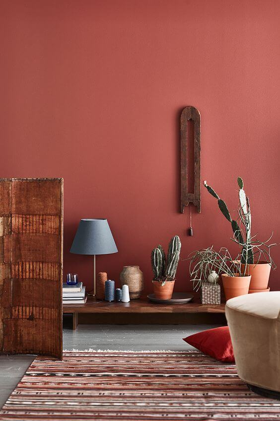 color painting walls bordeax red