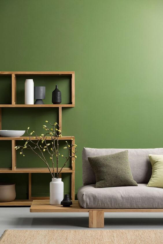 color walls painting green