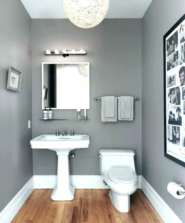 gray and white bathroom color walls